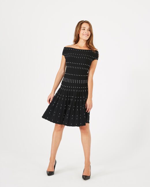 Arabesque black knitted dress (1) - 1-2-3