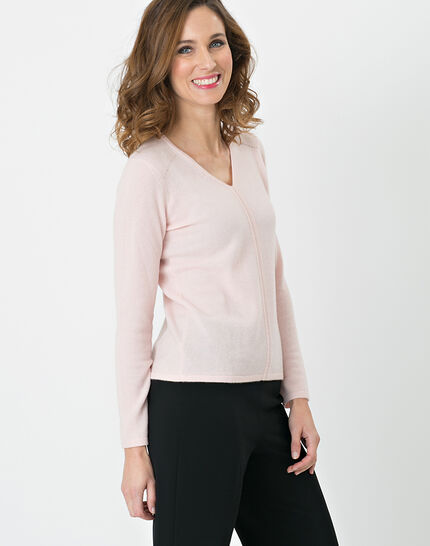 Heart pale pink cashmere sweater (3) - 1-2-3