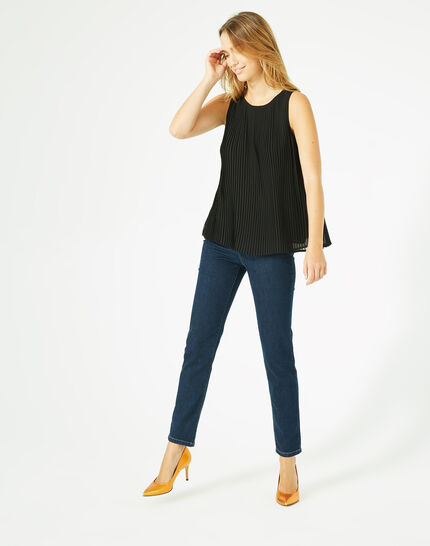 Erica pleated black top (3) - 1-2-3
