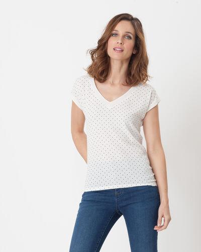 Nolita ecru T-shirt with polka dots (1) - 1-2-3