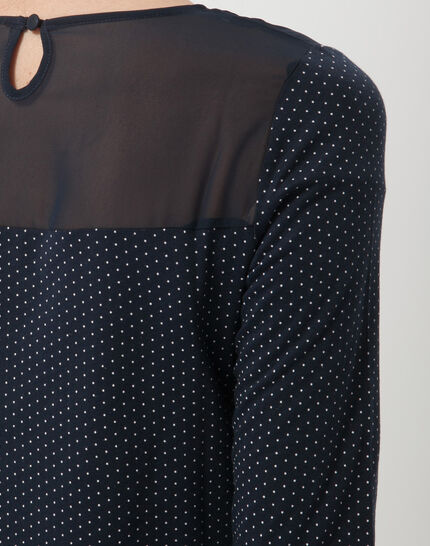 Louisa navy blue polka dot T-shirt (6) - 1-2-3