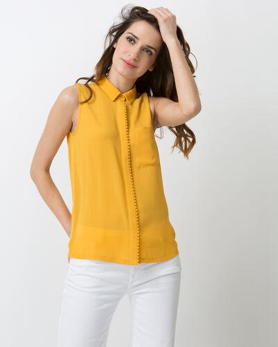 Natalia yellow top with shirt collar (1) - 1-2-3