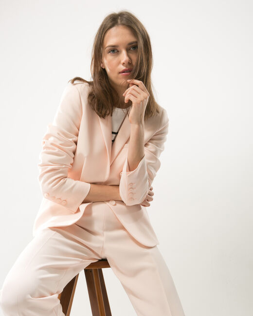 Veste de tailleur rose poudre Eve (2) - 1-2-3