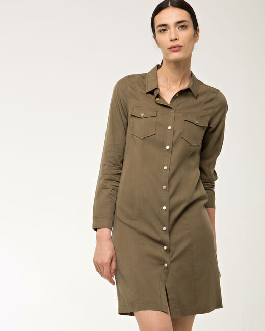 Biguine khaki shirt-dress (2) - 1-2-3