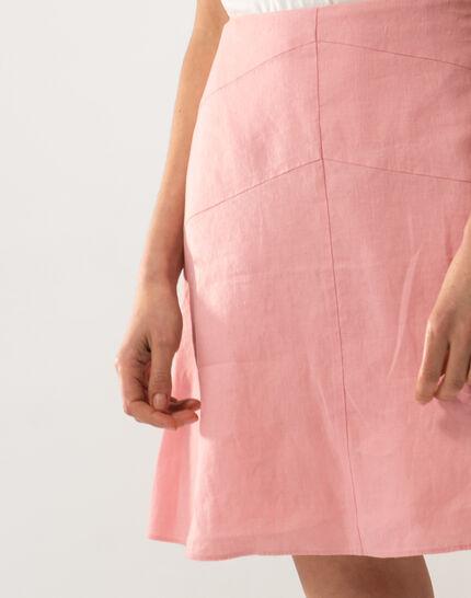 Clairon short pink linen skirt (5) - 1-2-3