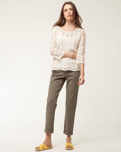 Estelle pale yellow lace blouse (1) - 1-2-3