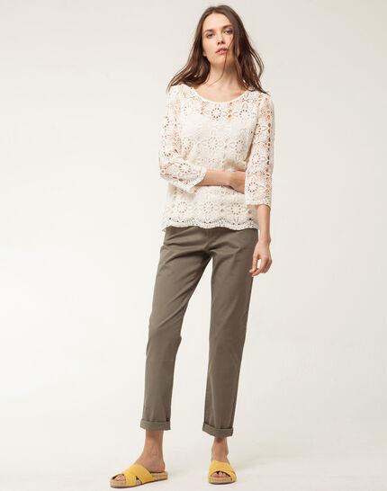 Estelle pale yellow lace blouse (2) - 1-2-3