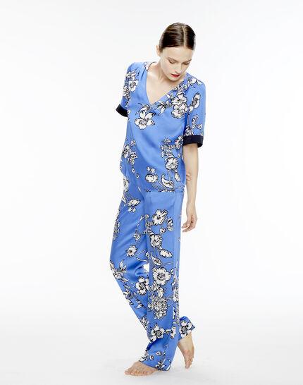 Blouse bleue imprimé fleuri Eclat (6) - 1-2-3