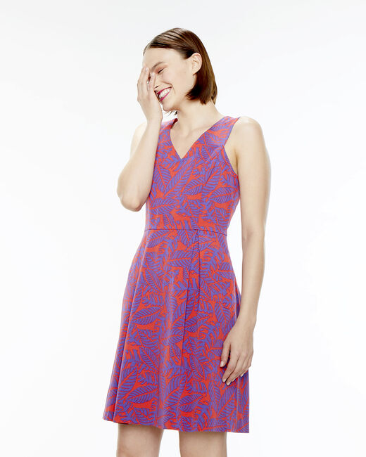 Famous pink printed dress  (2) - 1-2-3