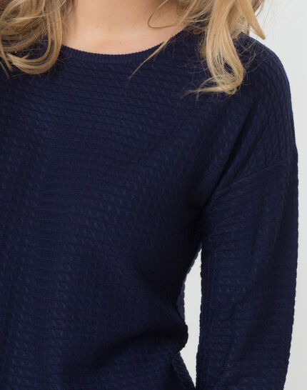 Hélice dark blue sweater with long sleeves (5) - 1-2-3