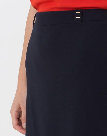 Domino navy blue tailored skirt (2) - 1-2-3