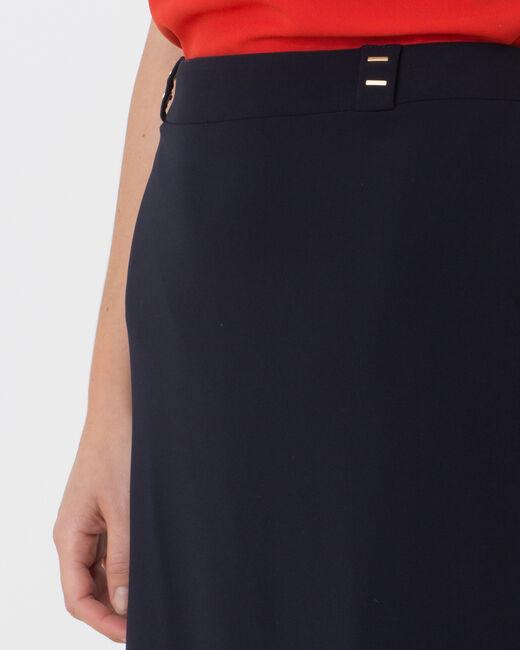 Jupe de tailleur bleu marine Domino (1) - 1-2-3