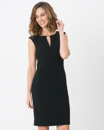Belize straight-cut black dress (2) - 1-2-3