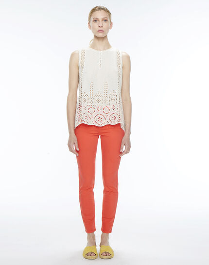 Oliver orange cropped trousers (2) - 1-2-3