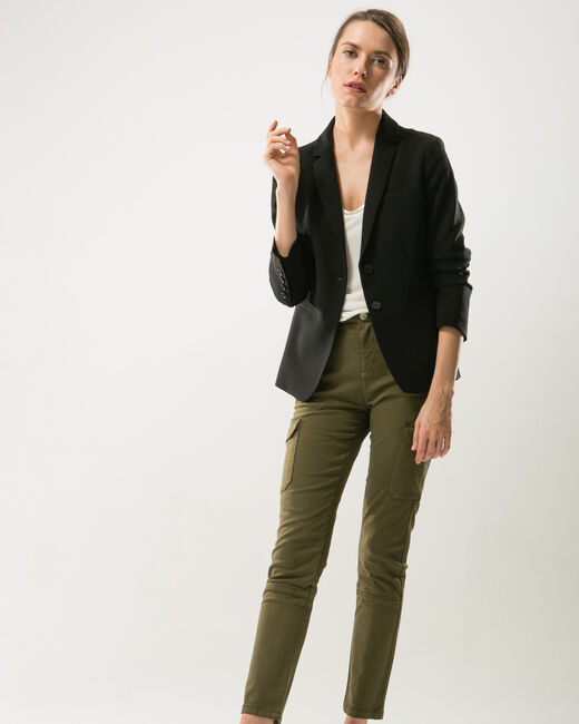 Damien 7/8 length khaki combat trousers (2) - 1-2-3