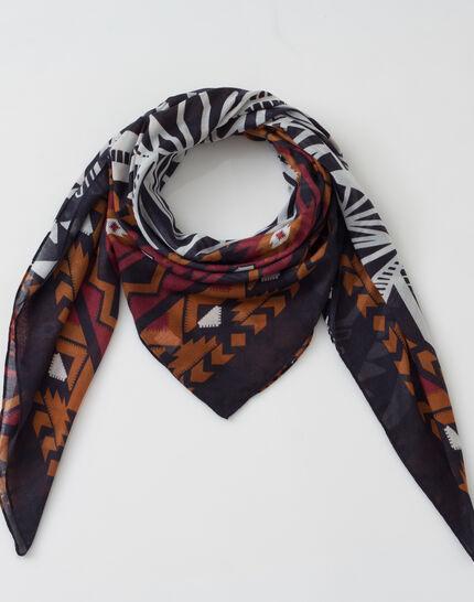 Susanna black printed scarf  (2) - 1-2-3