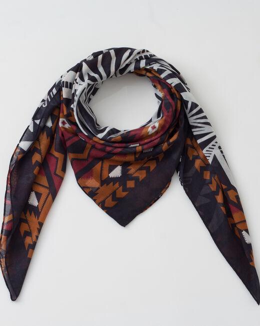 Susanna black printed scarf  (1) - 1-2-3