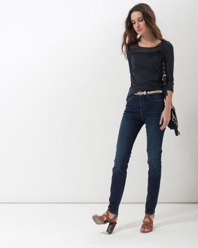 Louisa navy blue polka dot T-shirt (2) - 1-2-3