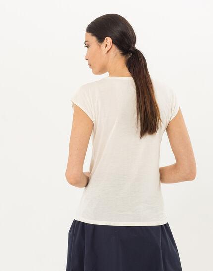 Tee-shirt écru imprimé Nerbier (4) - 1-2-3