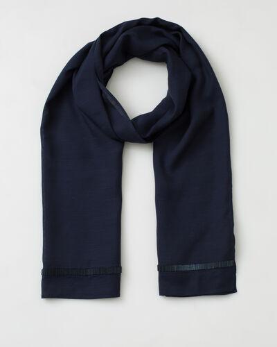 Sylviane navy blue beaded stole (1) - 1-2-3