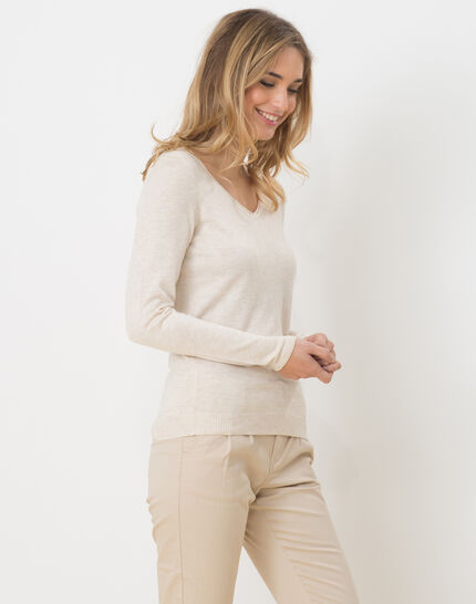 Honorine beige sweater with long sleeves (6) - 1-2-3
