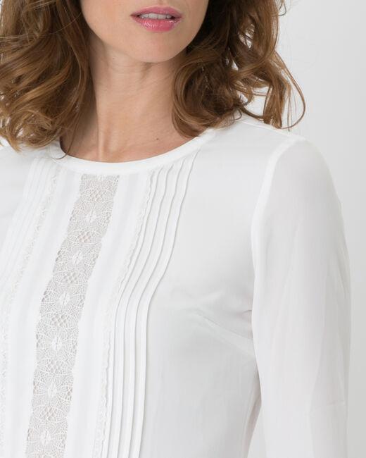 Tee-shirt écru dentelle Nuit (1) - 1-2-3