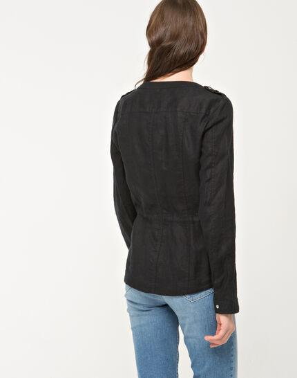 Umbria black linen jacket (6) - 1-2-3