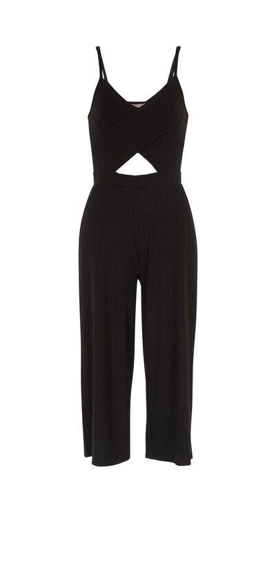 Tranciz black jumpsuit;${refinementColor}