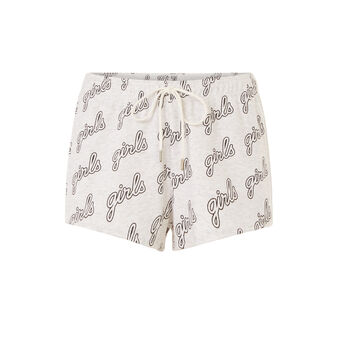 Girlyshortiz light grey shorts grey.
