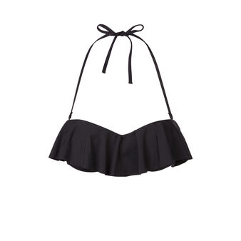 Citroniz black bikini top black.