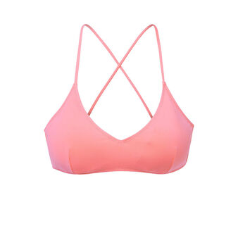 Haut de maillot de bain rose malawiz pink.