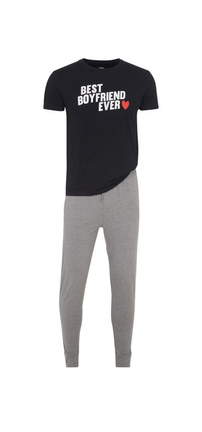 Boyfriz men's black pyjama set;${refinementColor}