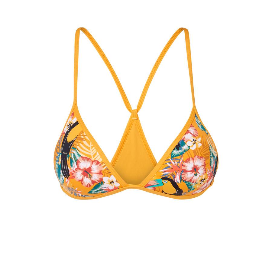 Toucaniz yellow bikini top;${refinementColor}