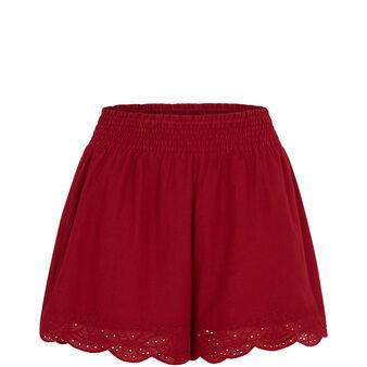 Short rouge karmiz red.