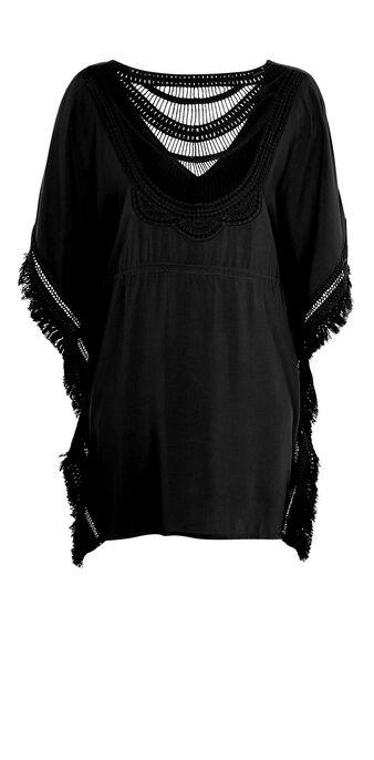 Moniz black beach tunic black.