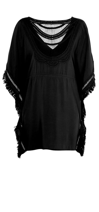 Moniz black beach tunic;${refinementColor}