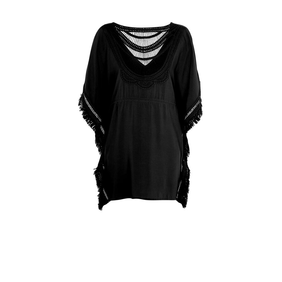 Moniz black beach tunic;${refinementColor}