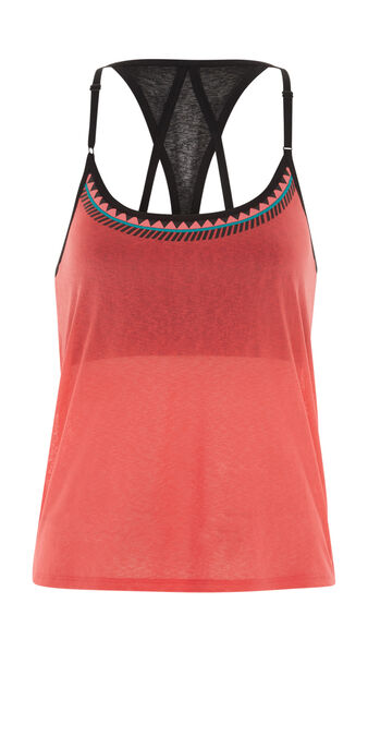 Top de sport corail palmeriz orange.