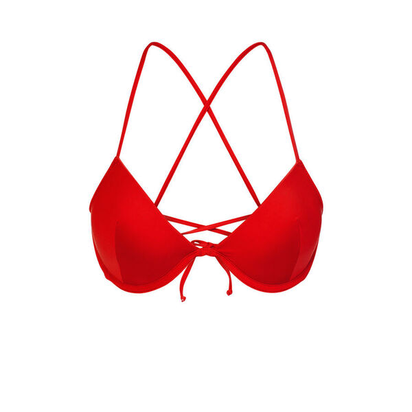 Haut de maillot de bain rouge alohiz;${refinementColor}