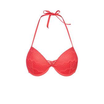Bigoudiz red bikini top pink.
