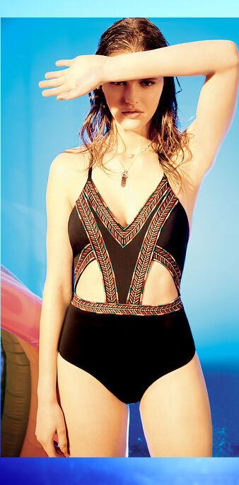 Sunglassiz black bikini top black.
