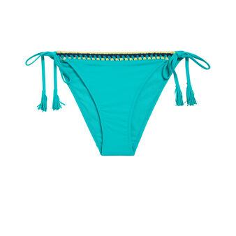 Parte de abajo de bikini azul turquesa picotiz green.