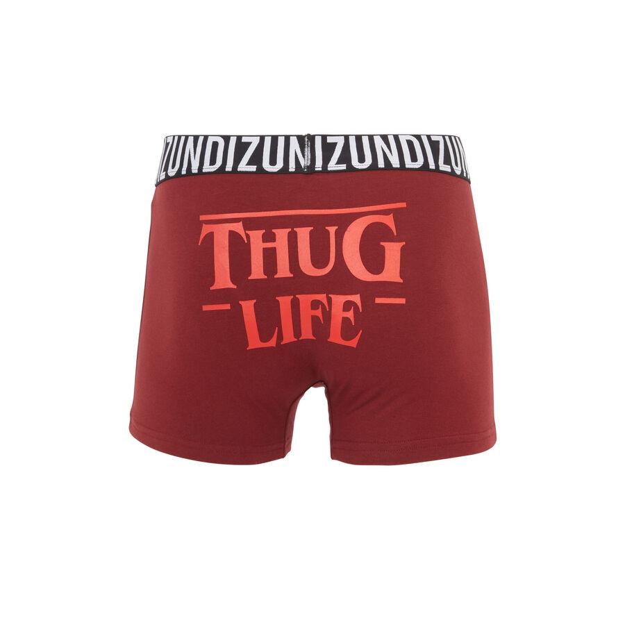 Badboyiz burgundy boxer shorts;${refinementColor}