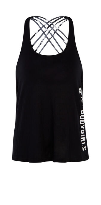 Top de sport noir patchiz black.