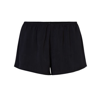 Short negro satiniz black.