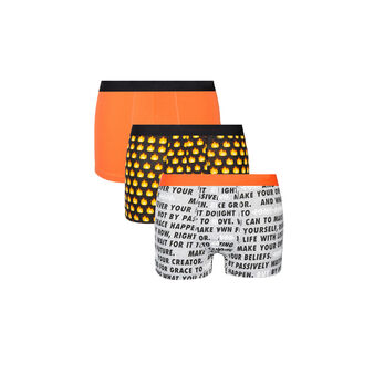 Lot de boxers emojiz orange.
