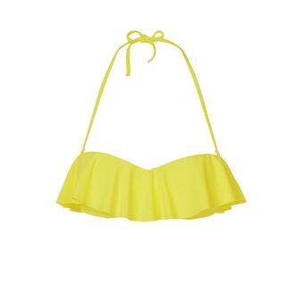 Citroniz yellow bikini top yellow.