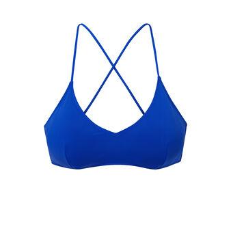 Haut de maillot de bain bleu roi malawiz blue.