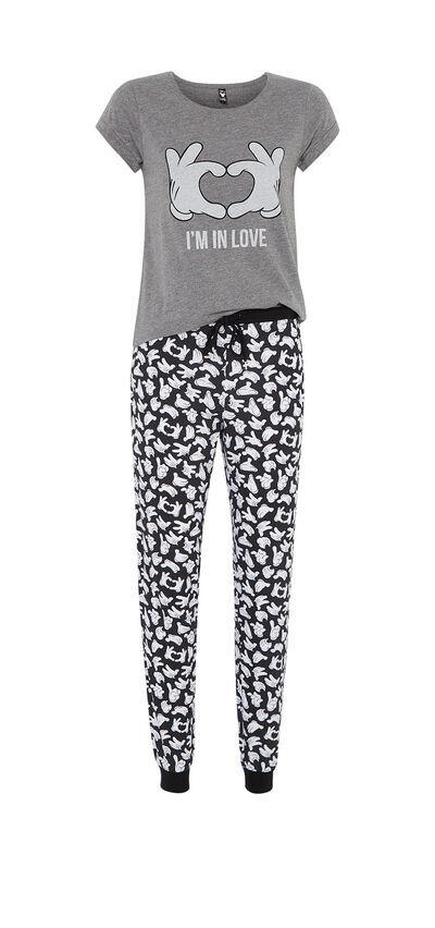 Ensemble de pyjama gris foncé mousiz;${refinementColor}