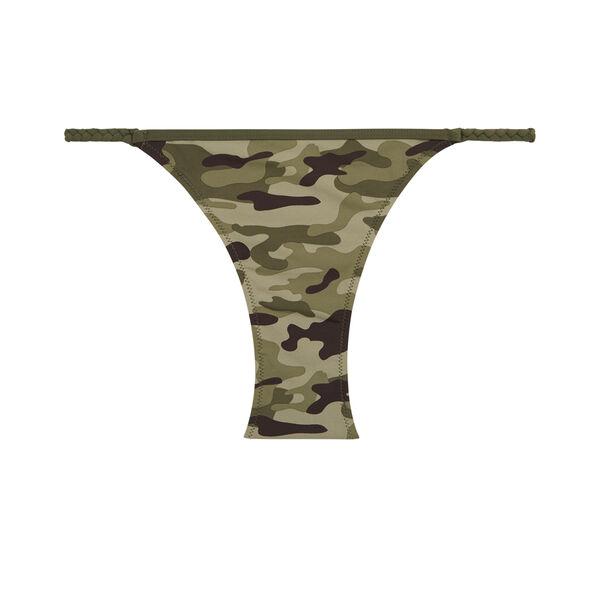 Camouiz khaki green bikini bottom;${refinementColor}